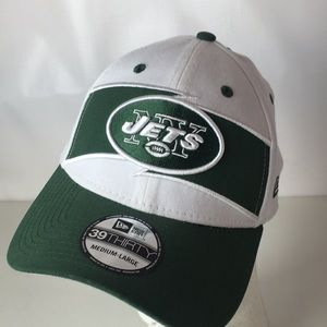 New York Jets Hat 39THIRTY NFL Flex Fit M/L Logo